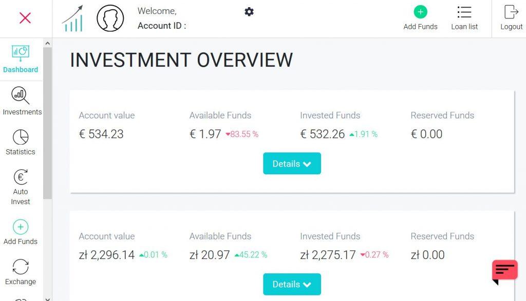 FastInvest - Rozhranie investičného účtu