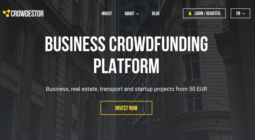 Crowdestor, hlavná stránka