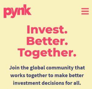 Pynk, webstránka